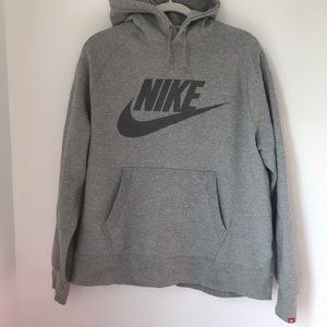 Nike swoosh hoodie gray XL